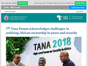 Tana Forum 2018 acknowledges challenges in realizing African ownership in peace and security