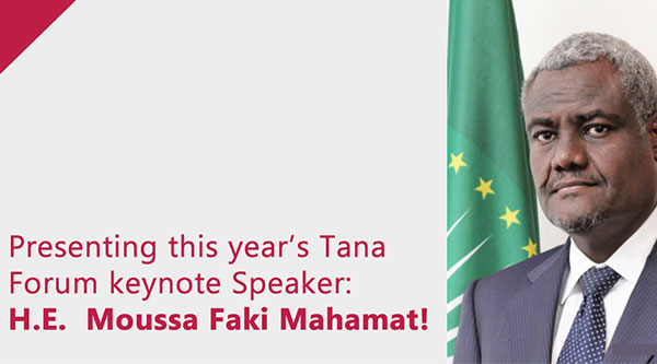 Presenting this year's keynote speaker: H.E. Moussa Faki Mahamat!