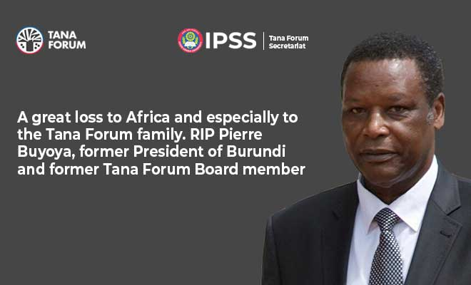 We are saddened by the death of the former President of Burundi, Pierre Buyoya